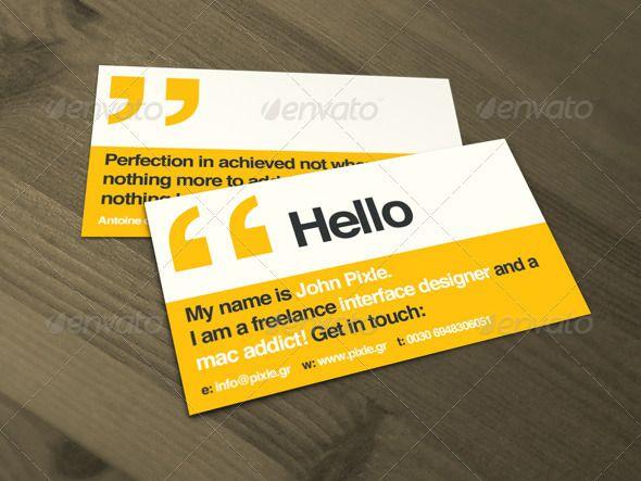 Minimal Helvetica Business Cards Corporate