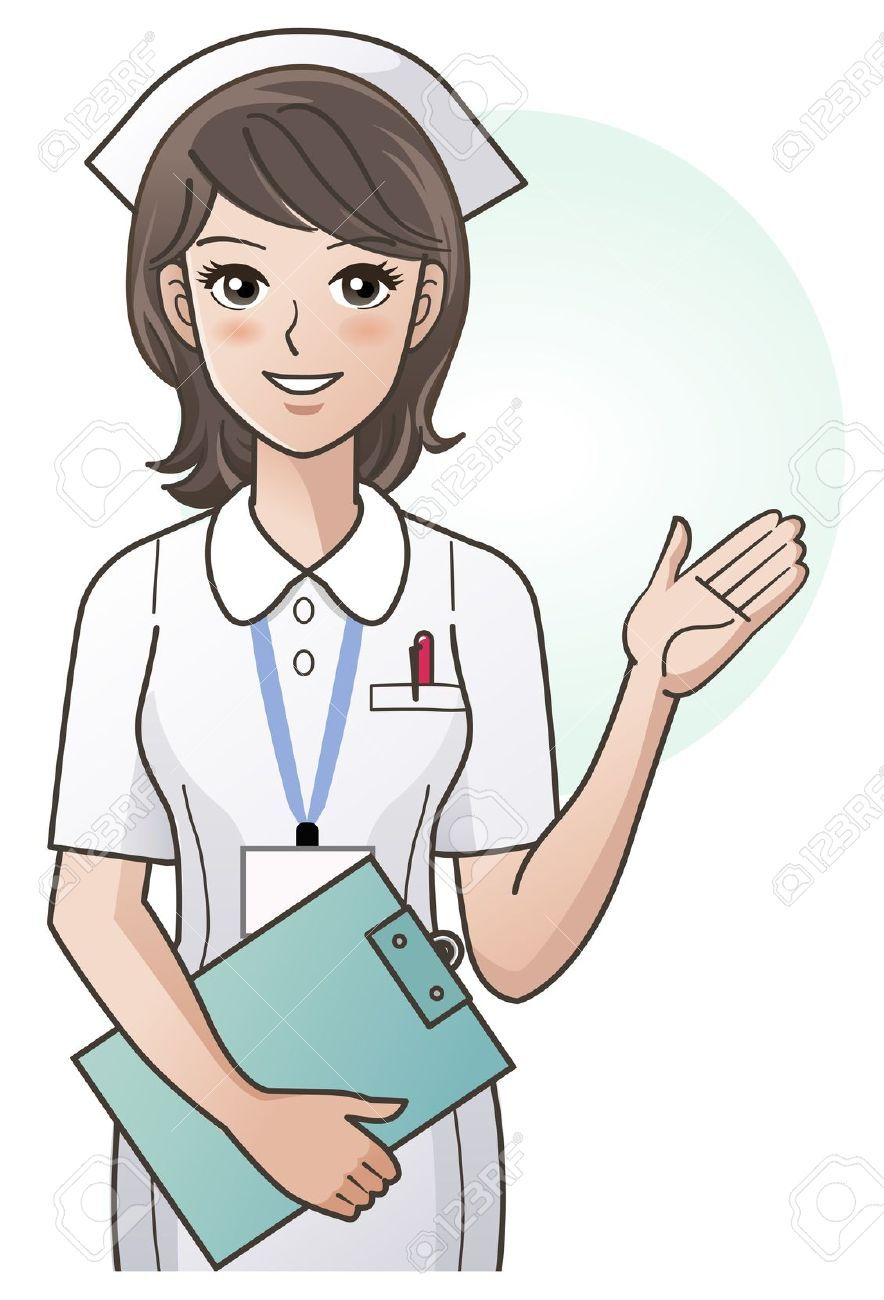 Young Nurse Guiding Information With The Hand Royalty Free