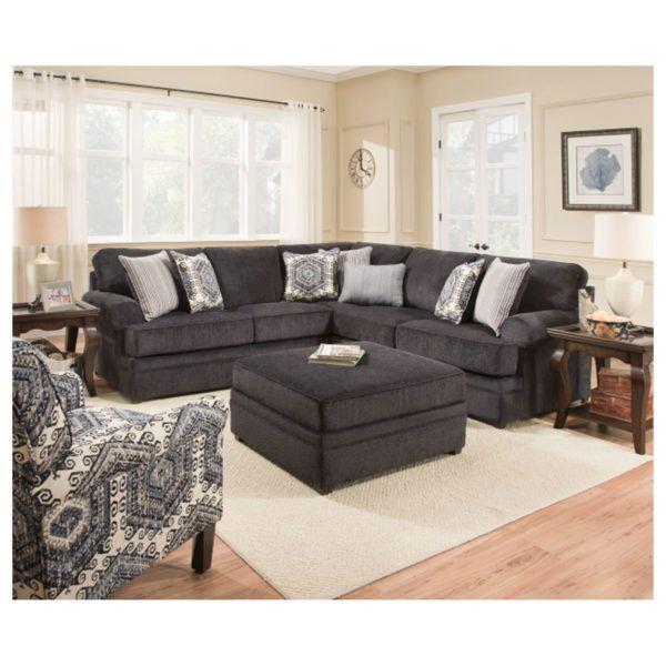 Simmons 8530br Sectional Sofa Bellamy Slate Hope Home Furnishings And Flooring Furniture Sectional Sofa Sectional
