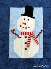 """""""Frosty"""" is een schattige quilt mijn lieve vriend Pat maakte voor mij.  xo"""