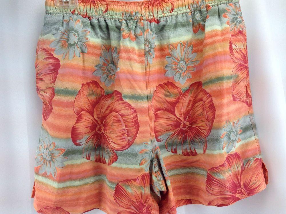 236d0df2c5 Tommy Bahama Bungalow Mens Swim Shorts Trunks 33 Large Hawaiian Tropical  Orange #TommyBahama #Trunks