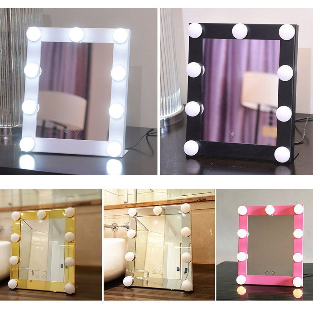 Led Vanity Lighted Hollywood Makeup Mirror Dimmer Stage Touch Beauty Table Lamp Makeup Vanity Mirror With Lights Makeup Mirror With Lights Beauty Table