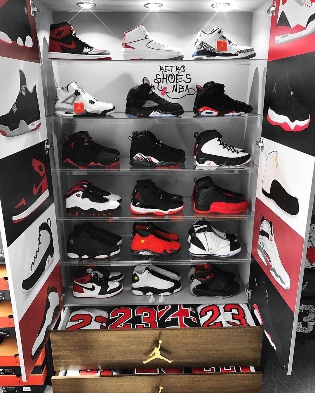 Which One Would You Choose Nike Shoes Sneakers Jordans Sneakerhead Room Sneaker Closet