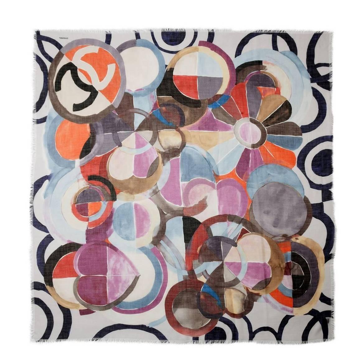 Chanel Geometric Print Scarf