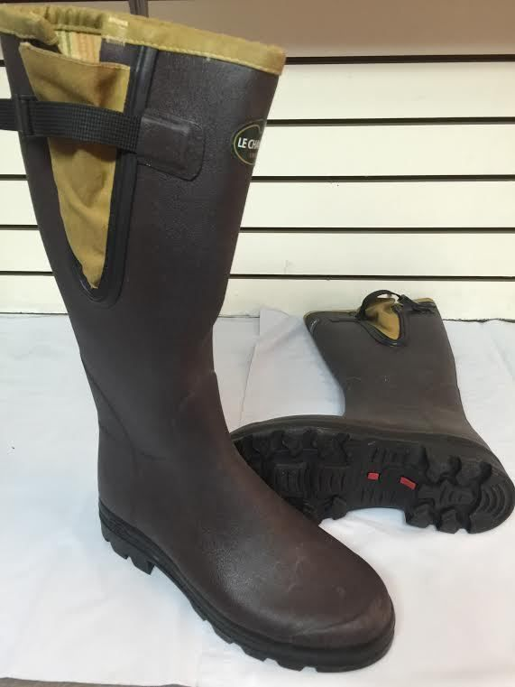 28170beb275 Le Chameau Vierzon Filson Tin Cloth Rubber Boots - Mens Size 13 Med ...