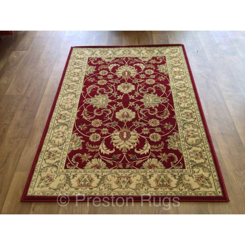 Kendra Traditional Rug Ispahan Red 45m