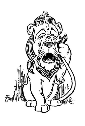 Drawing Of The Cowardly Lion In L Frank Baum S The Wizard Of Oz Wizard Of Oz Tattoos The Wonderful Wizard Of Oz Wizard Of Oz