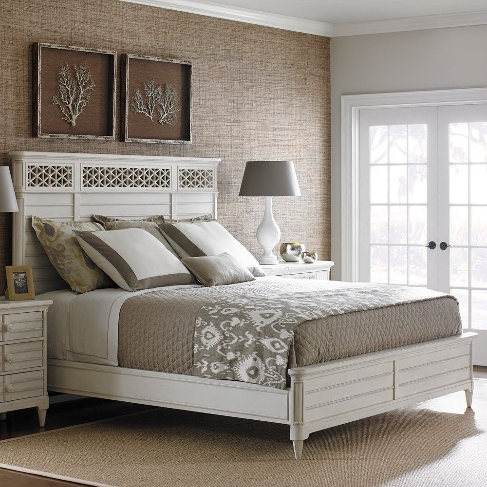 Stanley Furniture's Cypress Grove Wood Panel Bed in