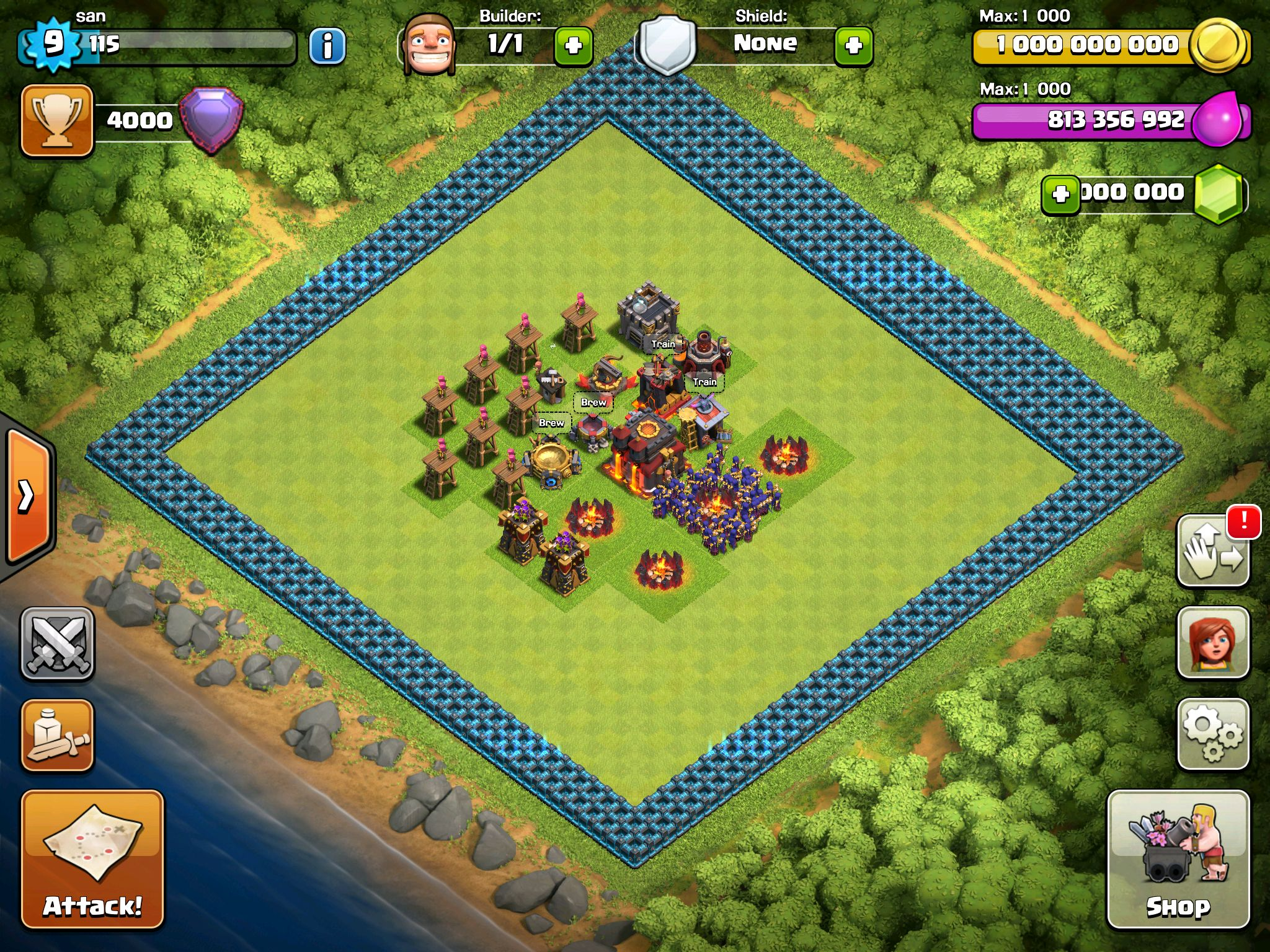 I'm hacking clash of clans