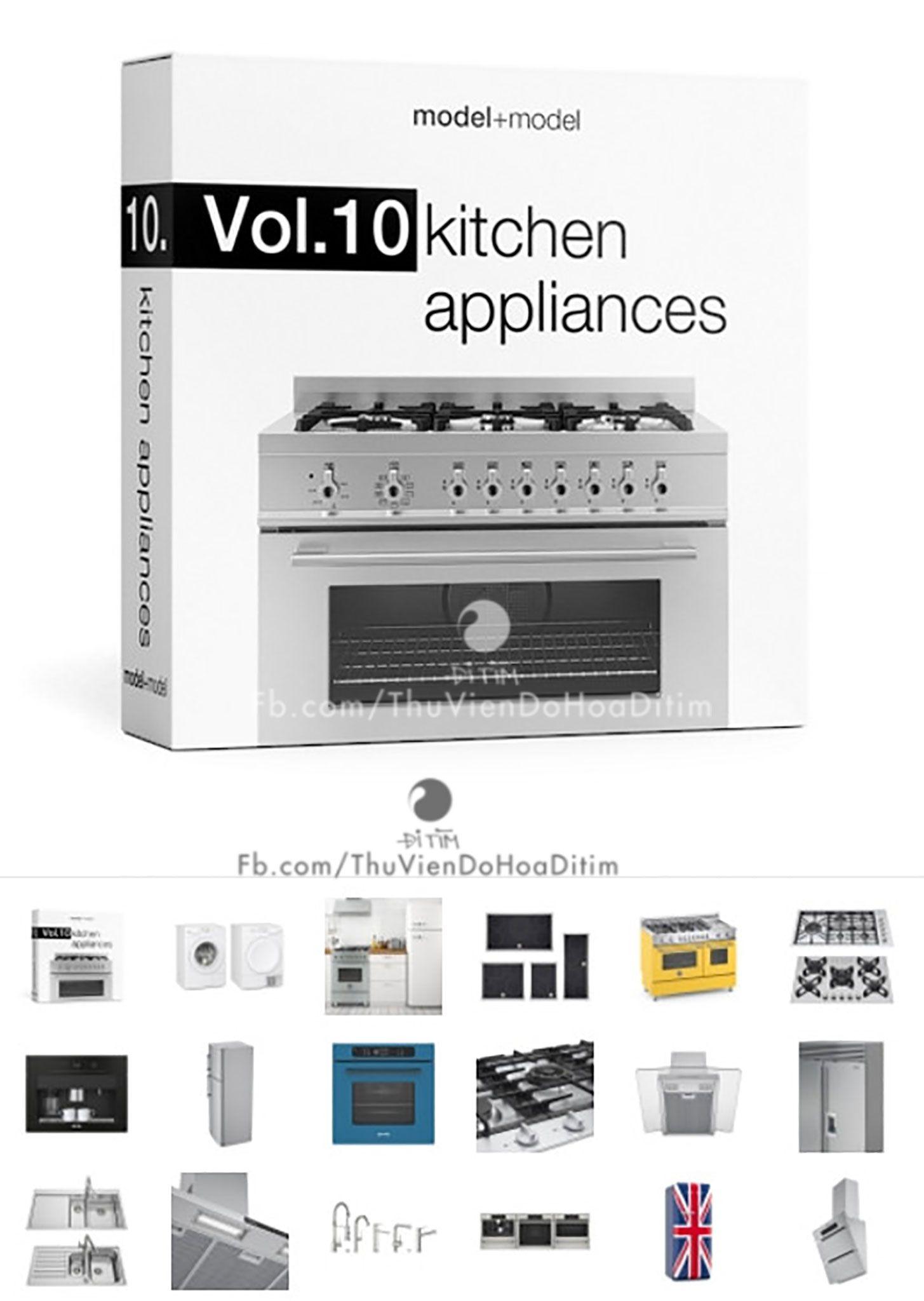[ Models ] ModelplusModel Vol 10 Kitchen appliances