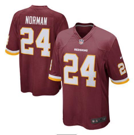 Men's Washington Redskins #24 Josh Norman Red Nike NFL Vapor Untouchable  Limited Jersey