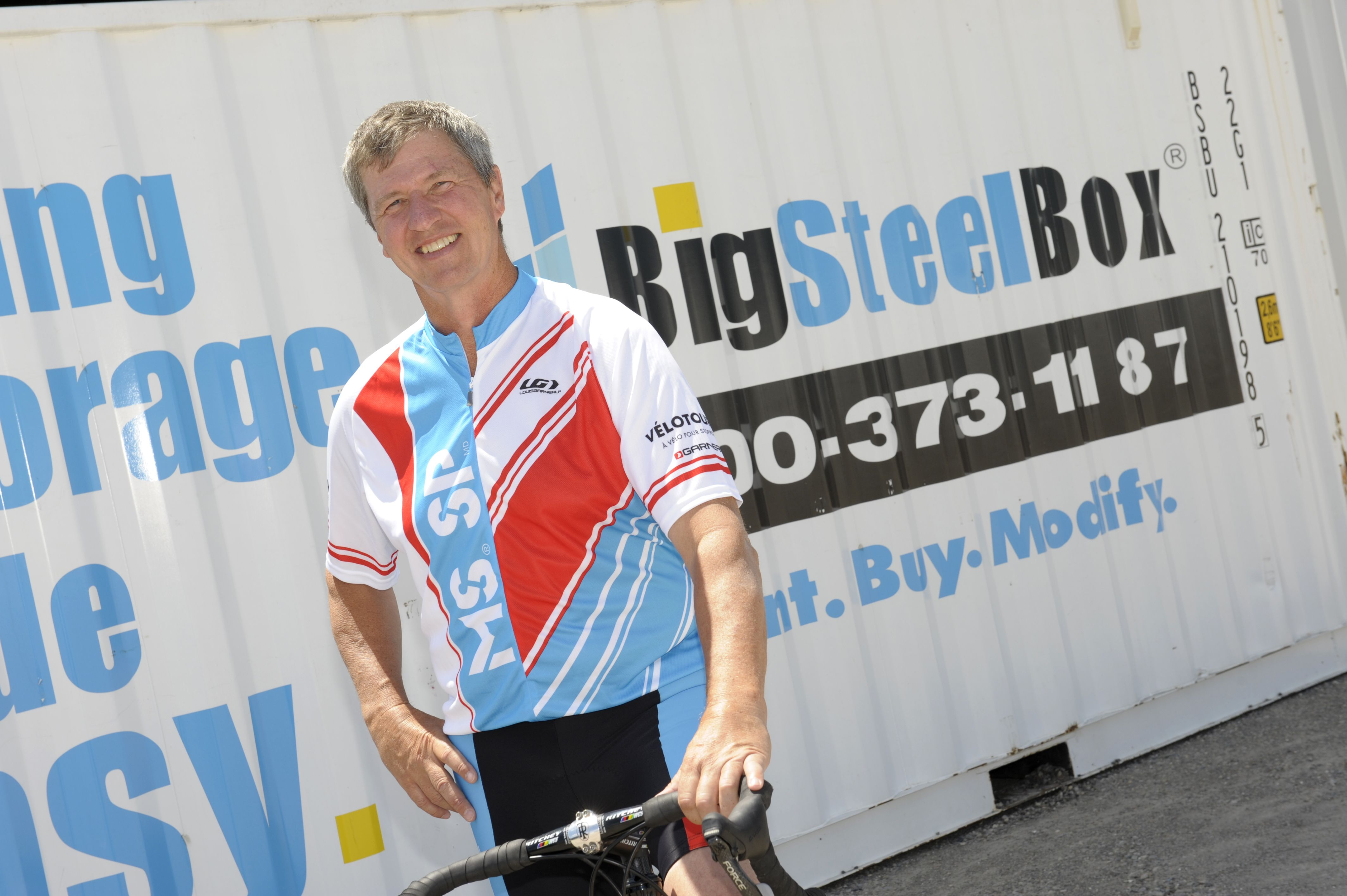 News release: BigSteelBox offers refreshment stops for new 150-km route as Canada's largest MS Bike event takes place from Grand Bend to London July 27 to 28.  http://dhzmedia.ca/?p2=/modules/blog/viewcomments.jsp=172