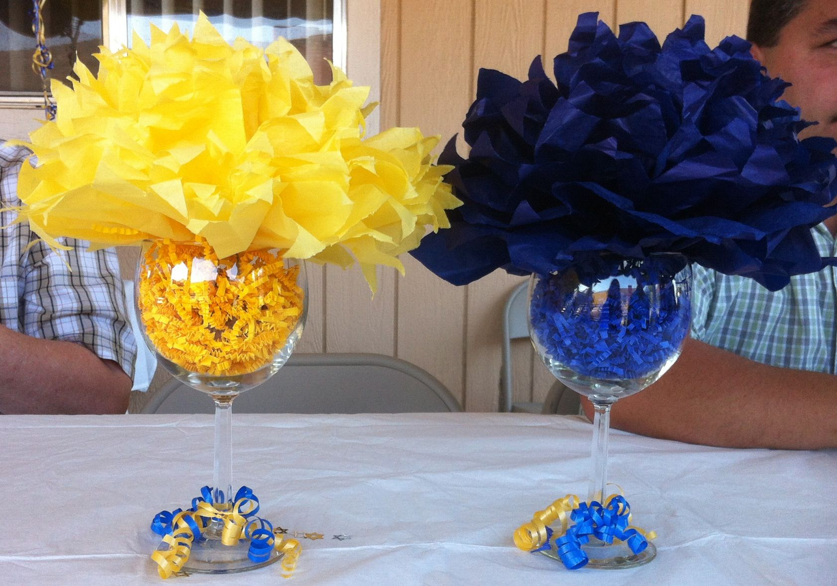 2013 MSW graduation decorations..I like the glass idea...not sure ...