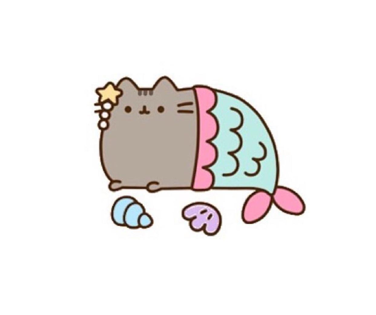 Pusheen Mermaid Woke Up Like This Greeting Card