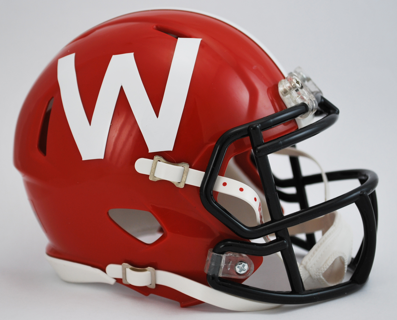 Wisconsin Badgers 2012 Ncaa Mini Speed Football Helmet Red