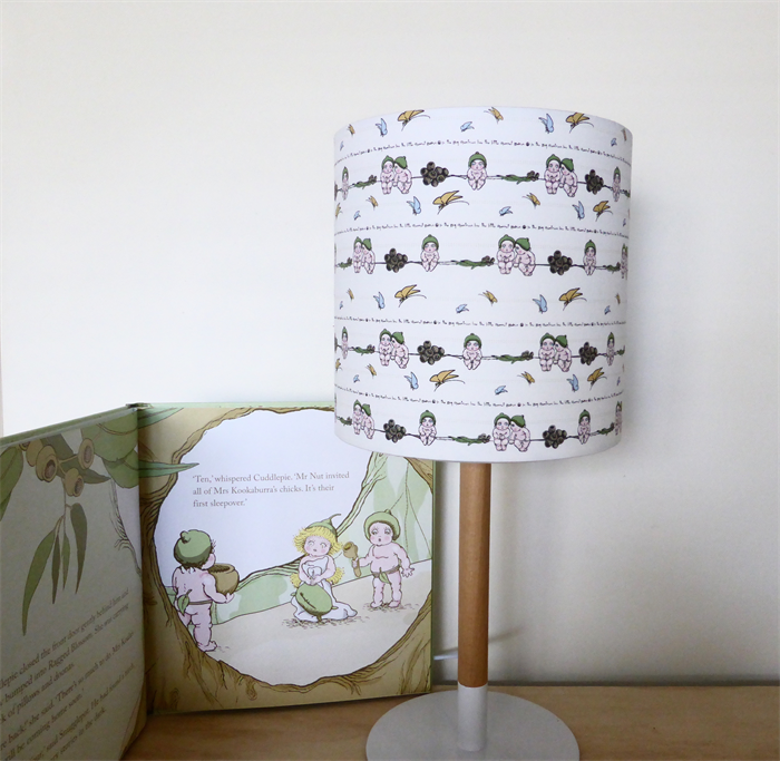 Nursery lampshade gumnut babies lamp shade may gibbs nursery snugglepot and cuddlepie nursery lampshade mozeypictures Image collections