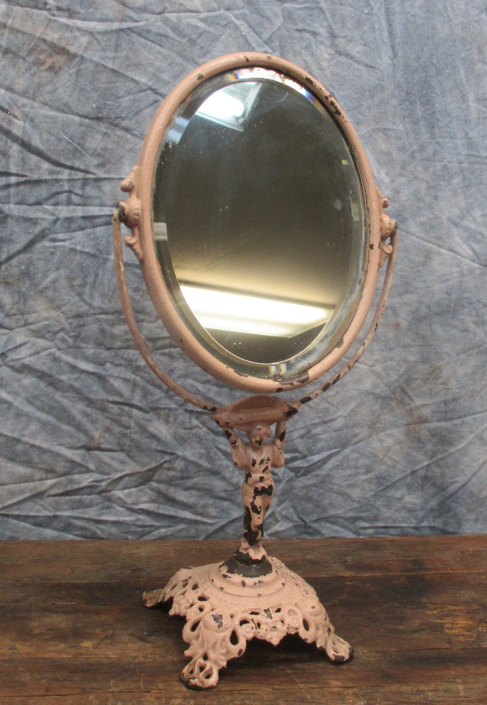Art deco shaving mirror statue vanity bathroom beauty