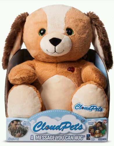 CLOUD PETS-NEW-PUPPY-KEEP IN TOUCH THROUGH THE CLOUD A MESSAGE YOU CAN HUG #CloudPetsPuppy