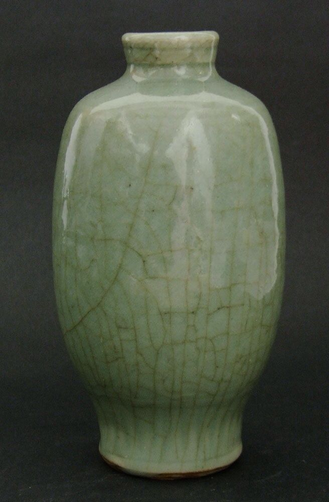 Ming Dynasty 15th Or 16th Century Ming Celadon Ware Vase With