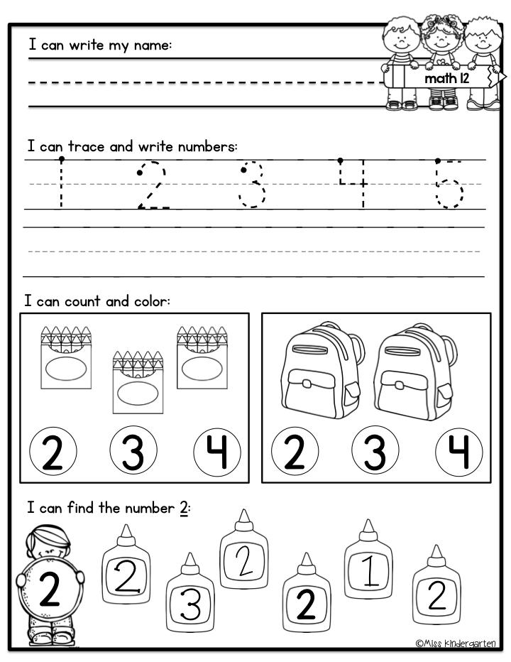 August Morning Work For Kindergarten Kindergarten Morning Work,  Kindergarten Addition Worksheets, Miss Kindergarten