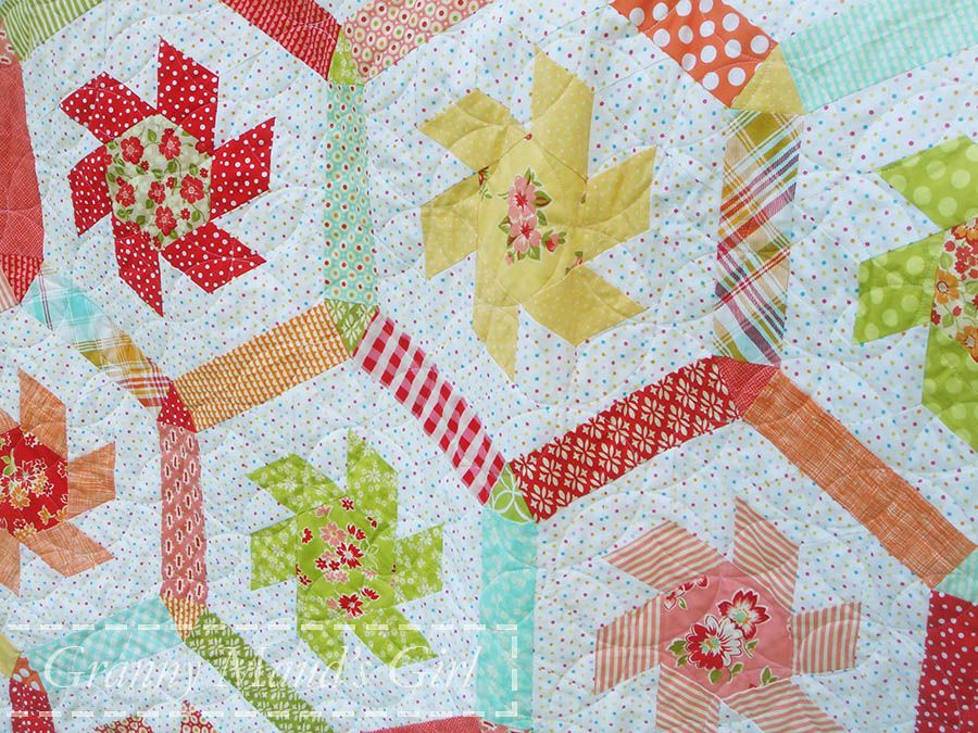 Whirligig Quilt Pattern By Brigitte Giblin Made By Granny Mauds