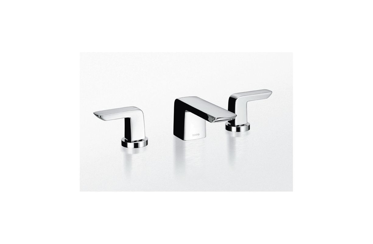 Toto TL960DDLQ Double Handle Widespread Bathroom Faucet with Metal ...