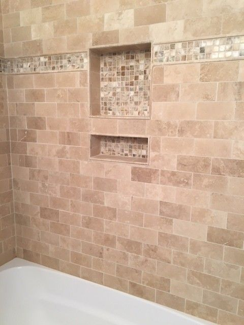 Navona Light Honed Travertine Floor And Wall Tile 3 X 6 In The