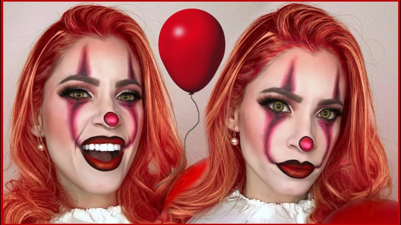MAQUILLATE COMO IT PENNYWISE VERSIÓN MUJER MAQUILLAJE