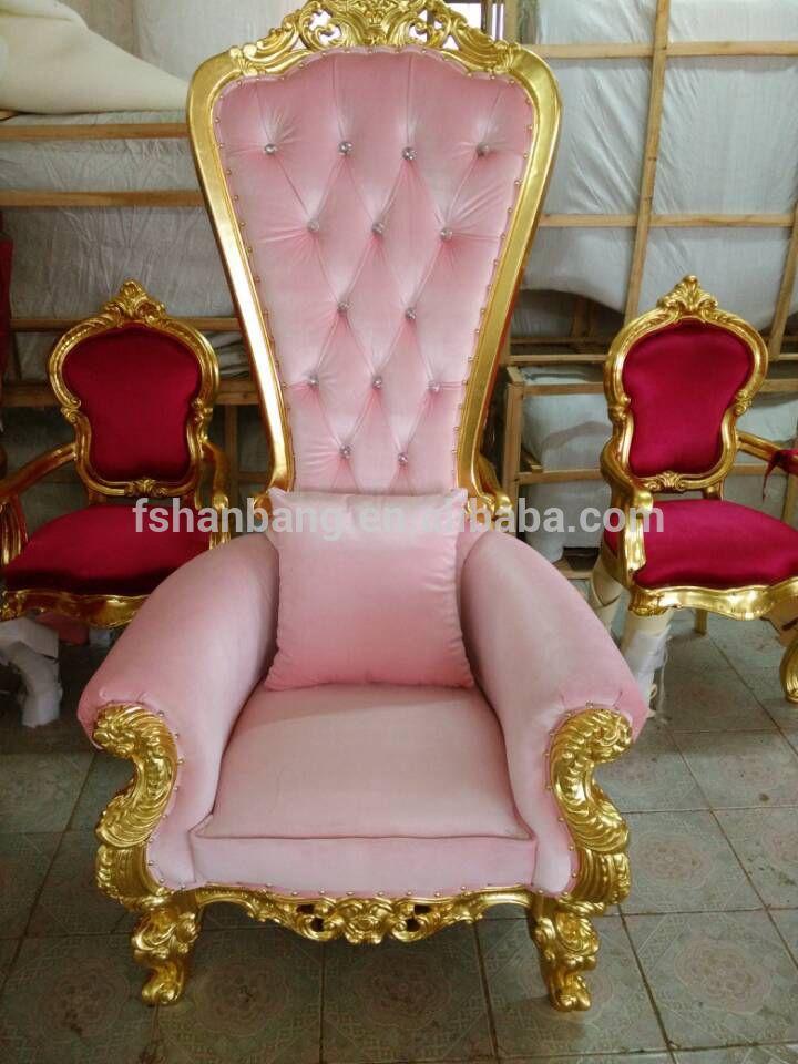 Púrpura rosa azul de tela blanca hoja de plata del oro barroco silla ...