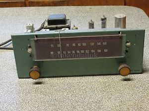 David Bogen AM/FM Mono Tuner Model R 640 Series V-15 with Manuals.  Plus Metal Bezel is included (Does not include wooden frame!).  Not tested due to cracked power cord. Tuner indicator moves normally.