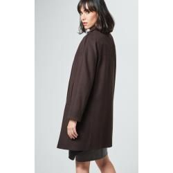 Photo of Oversize coat with cashmere in dark brown windsor