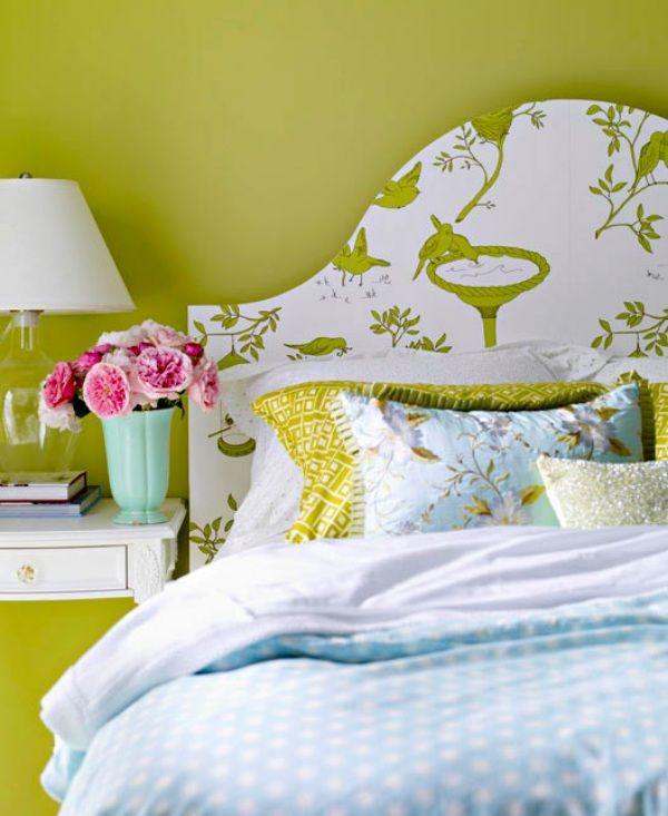 Respaldos de cama empapelados   Ideas para el hogar   Pinterest ...