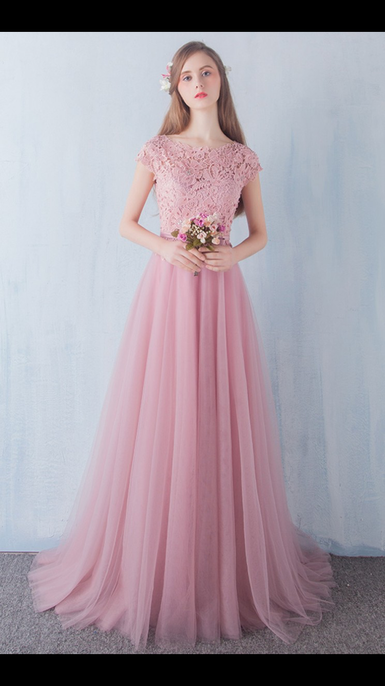 New Designer A Line Champagne and Blue Appliques Tulle