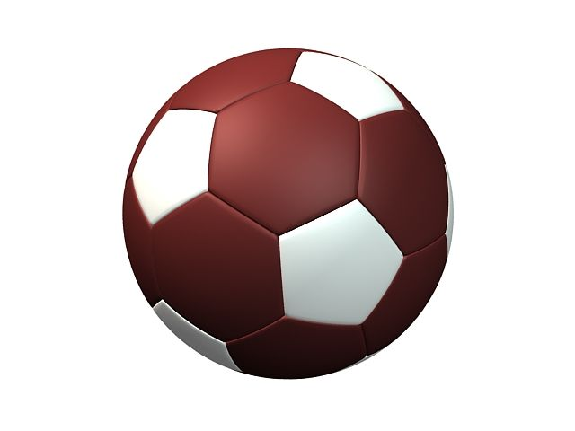 Download Red And White Soccer Ball 3d Model Soccer Ball Soccer Ball