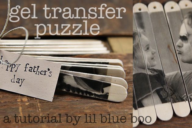 Summer craft or Father's Day gift idea....photo popsicle stick puzzle