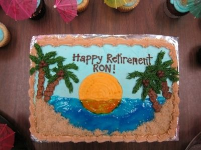 Tropical Retirement Cake By amusjh on