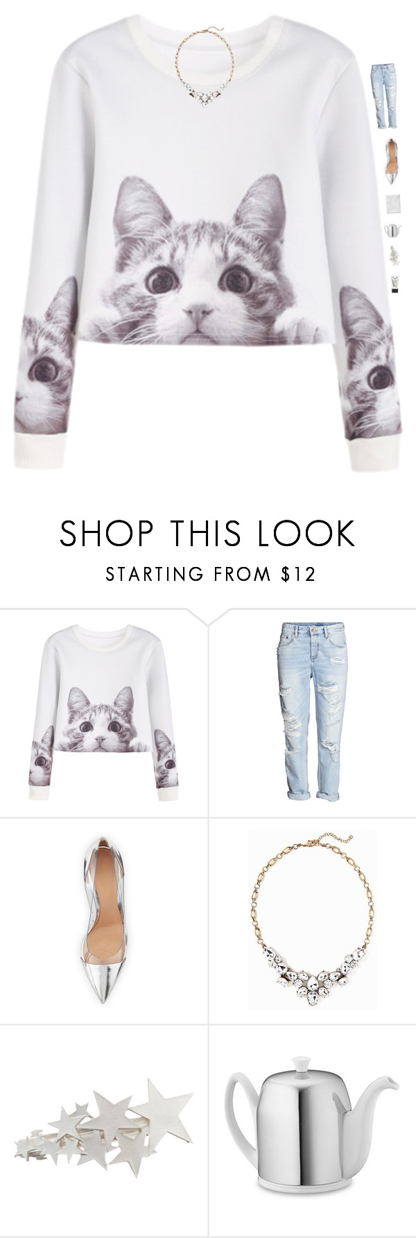 """""""Meow"""" by genesis129 ❤ liked on Polyvore featuring Gianvito Rossi, Old Navy, Williams-Sonoma, Stila and vintage"""