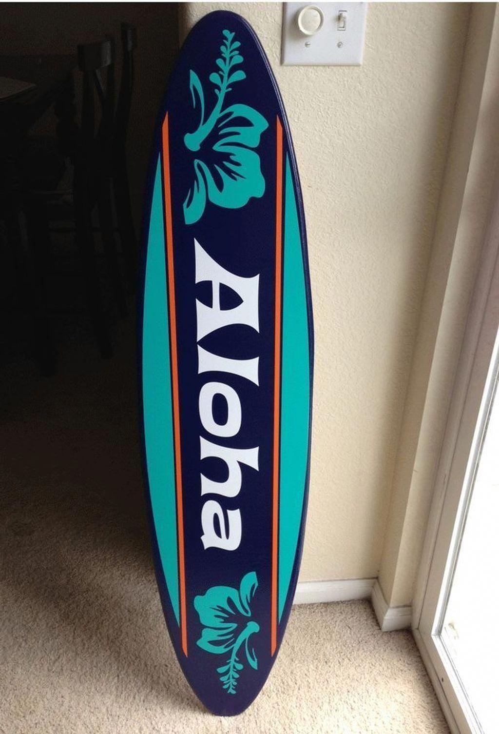 Pin Von Vroniw Auf Holz In 2020 Surfbrett Hawaii Deko Surfen