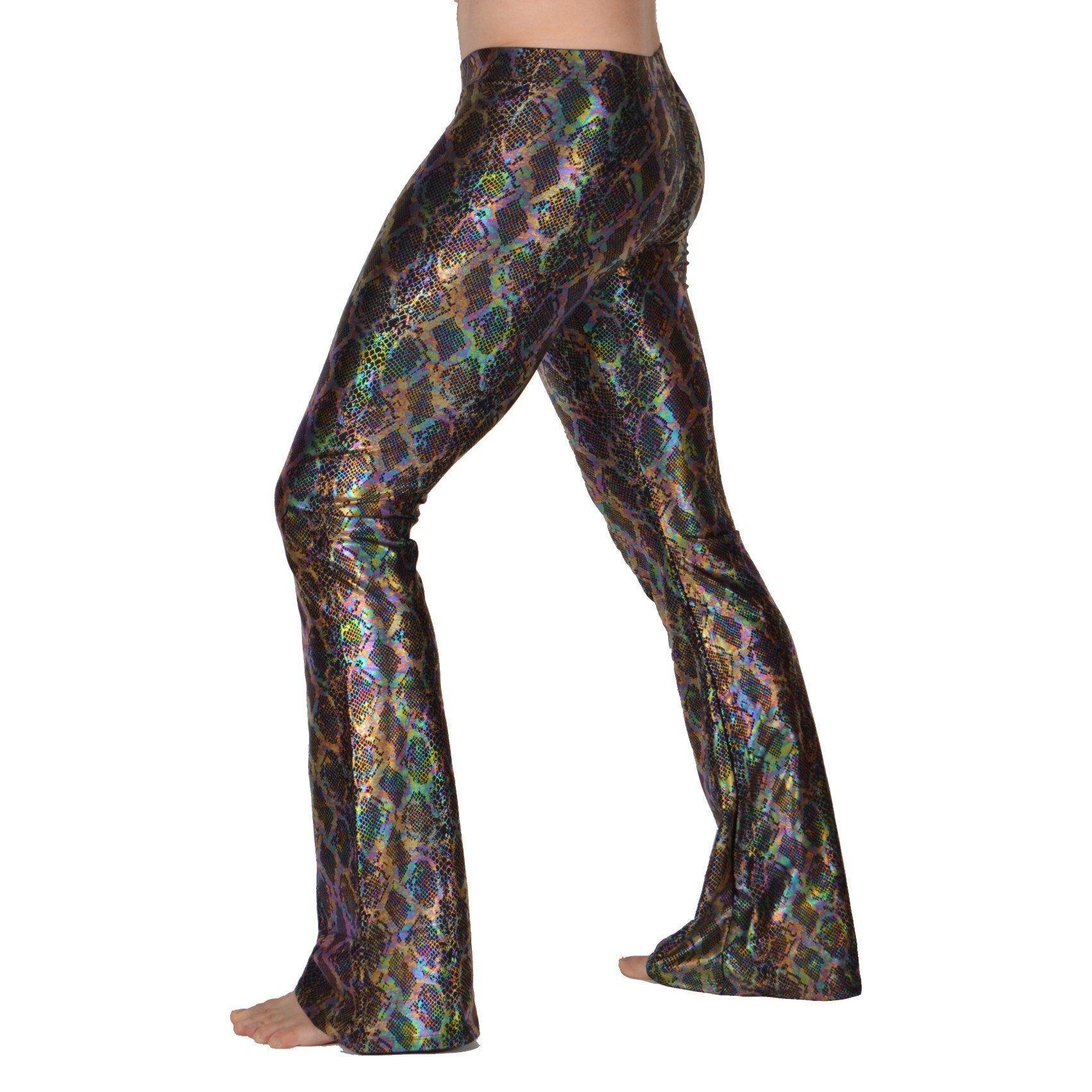 ebdf55baaf25c Snake Oil Holographic Men's Flare Pants. #holographic #meggings  #mensleggings #burningman #musicfestival #revolverfashion #flared  #festivalclothing ...