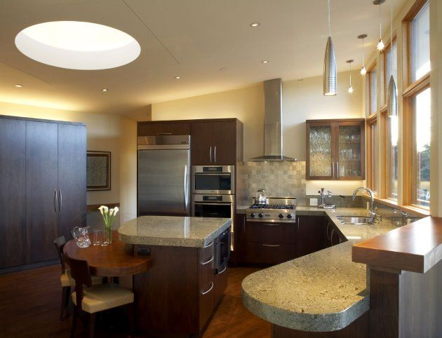 I Love Skylights Solar Lights Absolutely Want Them In Every Room And Closet Of My House Plus This Kitchen Is Beautiful