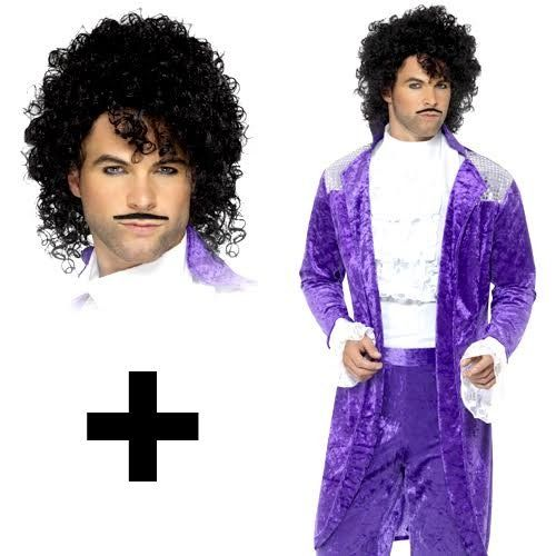 80s Purple Prince Costume with wig in three sizes - M, L ... - photo #35