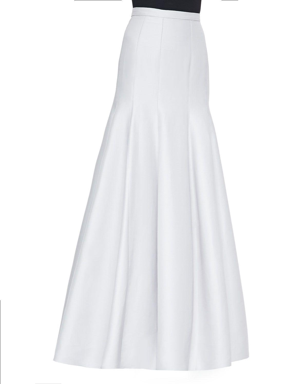 9efa46ec2 Long Pleated Trumpet Skirt, Vapor, Women's, Size: 10 - Halston Heritage