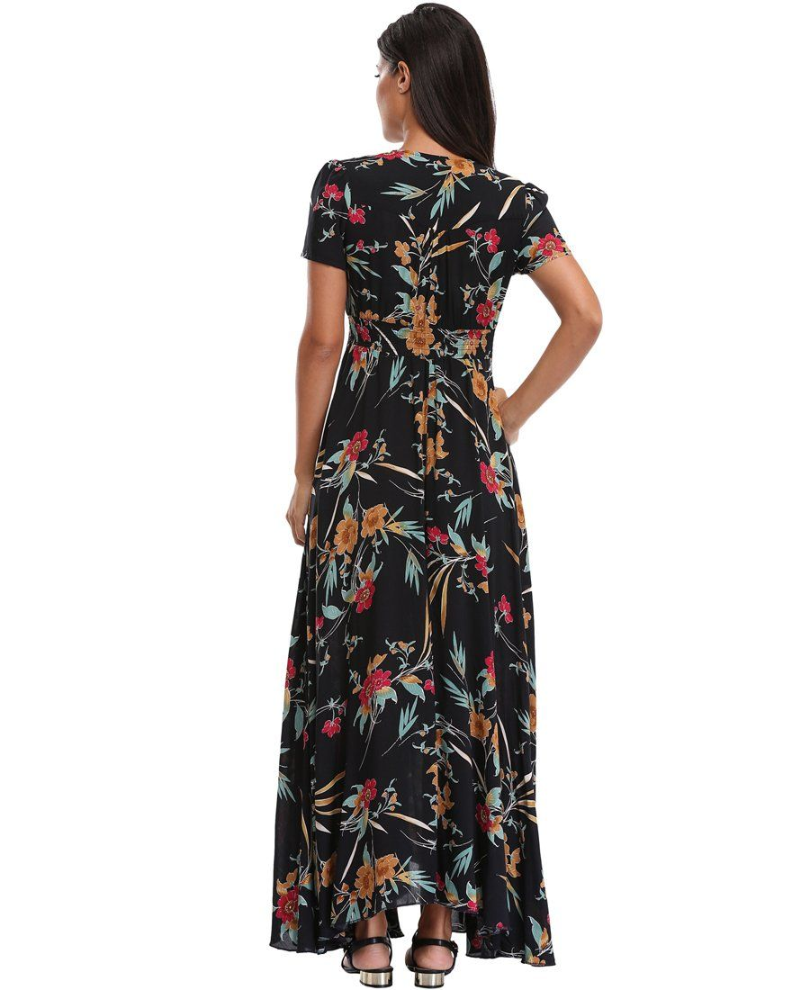 f0f7e9af174 Women Maternity Clothes - Summer Floral Maxi Dress Women Button up Split  Flowy Long Swing Boho Beach Party Dresses     Look into the picture by  visiting the ...