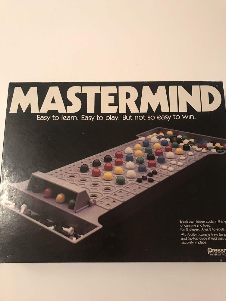 Vintage 1981 Mastermind Board Game by Pressman COMPLETE