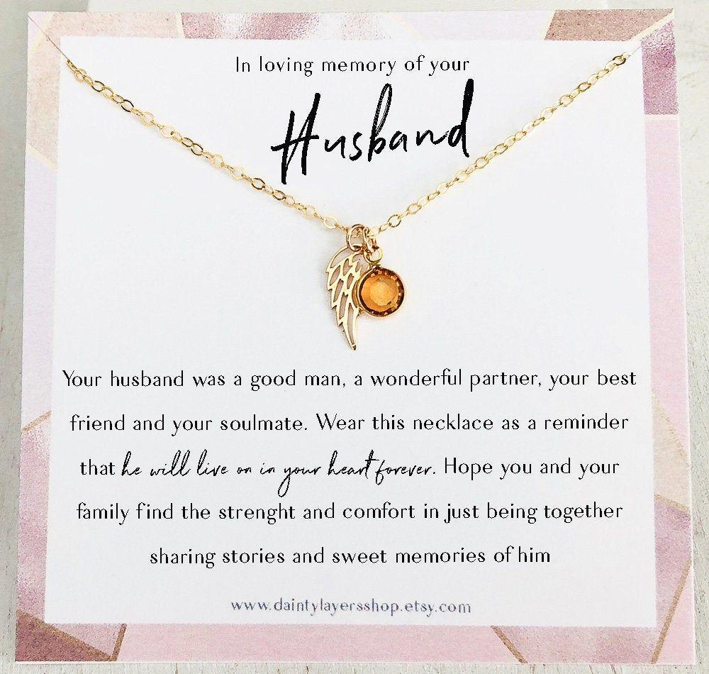 Loss of husband gift sympathy gift loss of husband