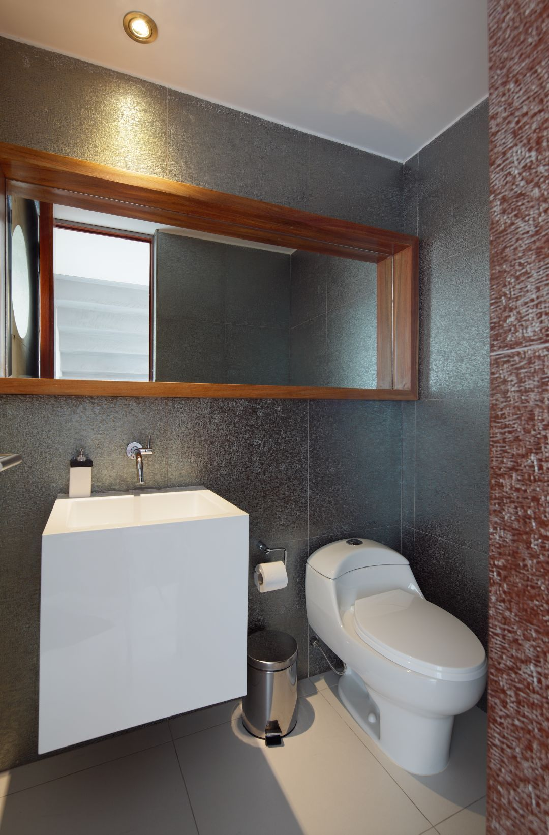 Bathroom, Dazzling Wall Mount Toilet Tank Decorating With Adorable ...