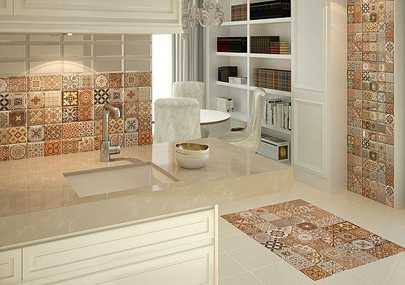 Risultati immagini per piastrelle cucina patchwork kitchen