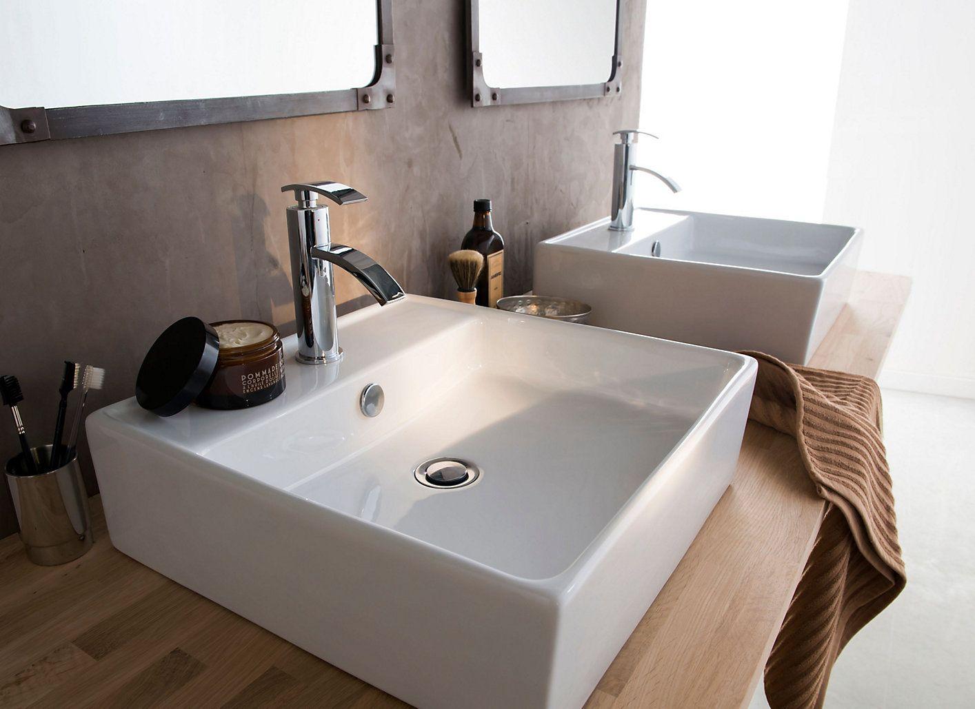 Etagere Pour Vasque A Poser cooke & lewis koura countertop basinwhite   countertop basin