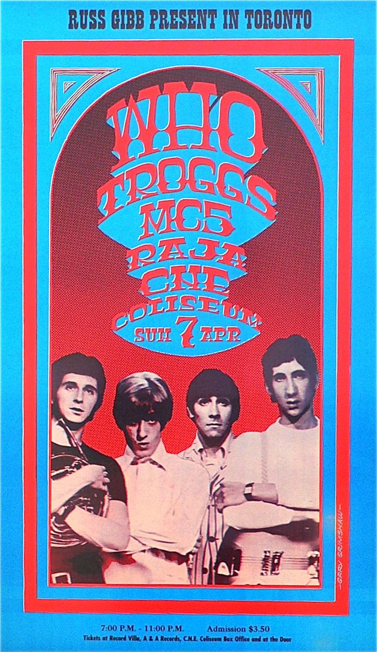 The Who - Toronto concert poster - 1968