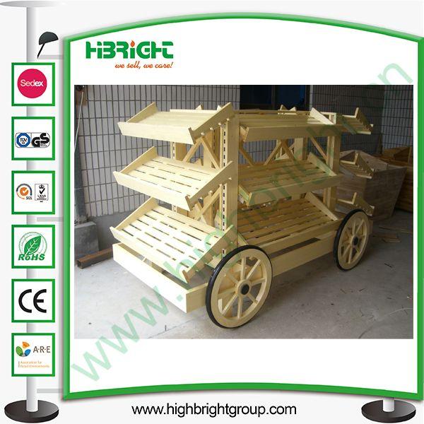 Hot Item Wooden Display Bread Car For Store And Supermarket Frutas Y Verduras Fruteria Y Verduleria Frutas
